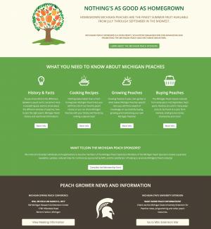 Michigan Peach Sponsors - Wordpress Informational